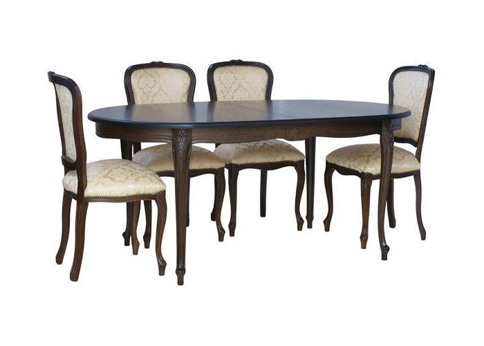 Стол обеденный черный с патиной